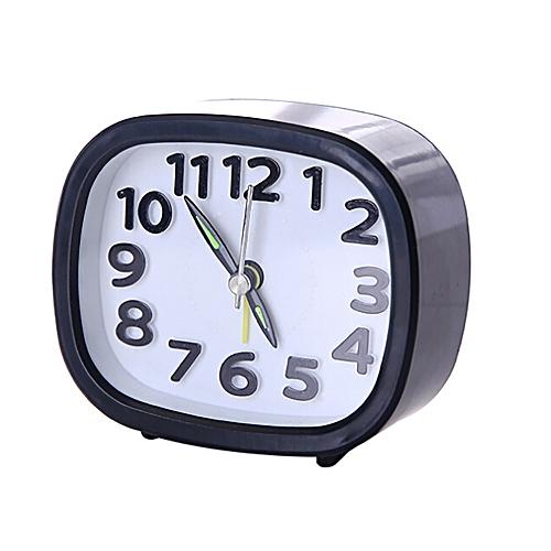 Dtrestocy Rectangle Small Bed Compact Travel Quartz Beep Alarm Clock Cute Portable