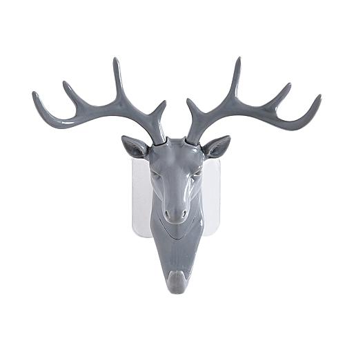 Sticking Hook Peg Economic 18.5*17CM Gray Deer Head Hat Wall Decoration Ornaments Arts Crafts