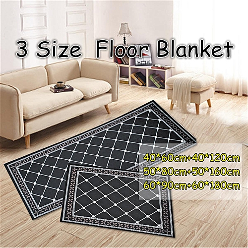 Non-Slip Home Kitchen Floor Mat Machine Washable Rug Door Runner Hallway Carpet # 50*80cm+50*160cm