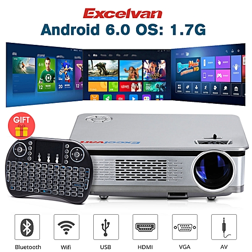 """HT60 Home Projector Android 6.0 1080P 5.8"""" LCD 3200lm EU - Battleship Gray"""