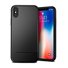 IPhone X Case Carbon Fiber Case Cover Phone Case For IPhone X - Black