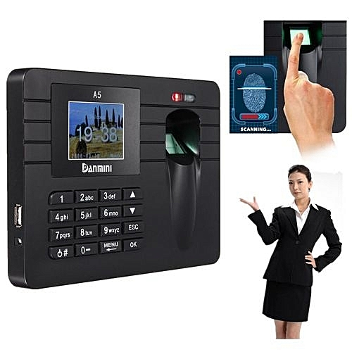 Fingerprint & Password Time Recorder Clocking In Clock Machine Attendance Check