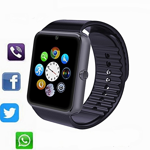 Waterproof Smartwatch Bluetooth With LED Alitmeter Music For Android Smart Phone(black)