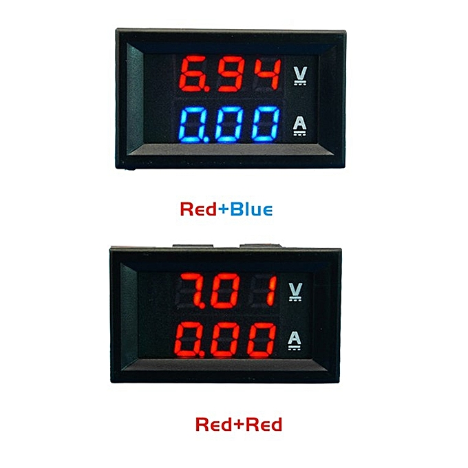 Smart Dc 100v 10a Voltmeter Ammeter Blue Measurement & Analysis Instruments Red Led Amp Dual Digital Volt Meter Gauge Excellent Quality Voltage Meters