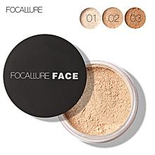 FOCALLURE New Brand Makeup Powder 3 Colors Loose Powder Face Makeup Waterproof Loose Powder Skin Finish