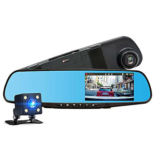 Xbotmax Car DVR Dual Lens Full HD 1080P Car Camera Video Recorder Rear View Mirror With Rear Camera Automobile DVR Mirror Dash Cam Car Dvrs