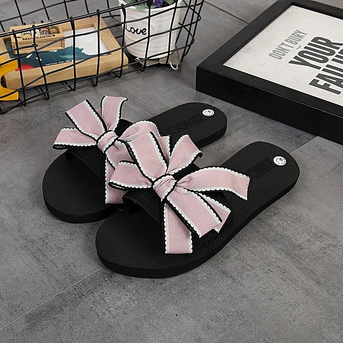 8e02f057e Blicool Shop Women Sandals Women Bow Summer Sandals Slipper Indoor Outdoor  Flip-flops Beach Shoes