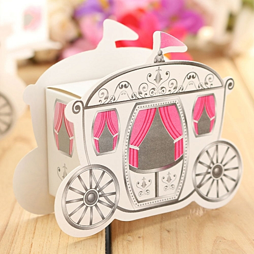 1pcs Princess Pumpkin Carriage Candy Sweet Chocolate Boxes Wedding Party Favor
