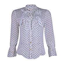 Ladies Chiffon Polka Dot Blouse - White  amp  ... 5b6b60b158