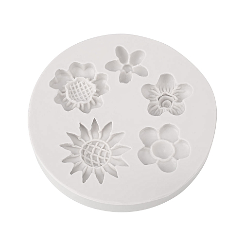 Baking Mould Cake Mold Safety Silicone Flower Pattern Chocolate Sugarcraft Biscuits Kitchen