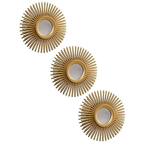 3Pieces Radia Decorative Wall Mirror Gold