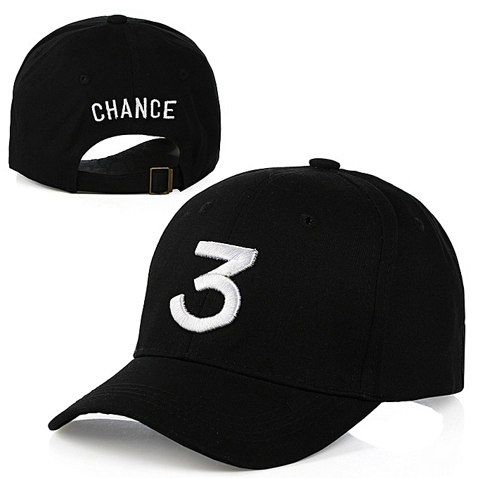 7483be44f8d81 Chance 3 Embroidery Rapper Inspired Baseball Hat For Men Women -Black ...