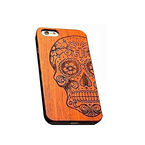Wooden Case For IPhone 6 - Skull Design