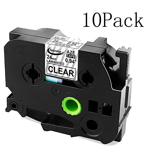 24mm TZe151 TZ151 TZe-151 Compatible Label Tape Cartridge For Brother P Touch Label Maker Black On Clear
