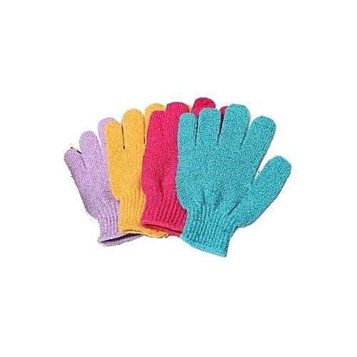 Pack Of 4 Bath/Body Exfoliating Sponge Gloves
