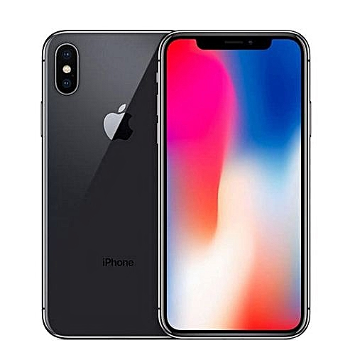 IPhone X Mobile Phone 256GB 5.8 Inch With Tempered Glass Smartphone - Black
