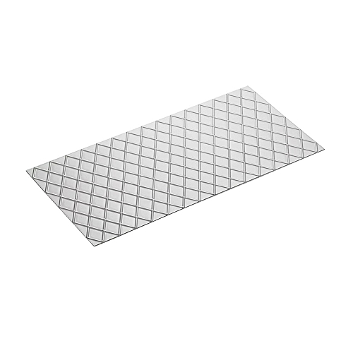 Kitchen 4Pcs/Set Grid Transparent Texture Mat Fondant Cutter Cake Mold