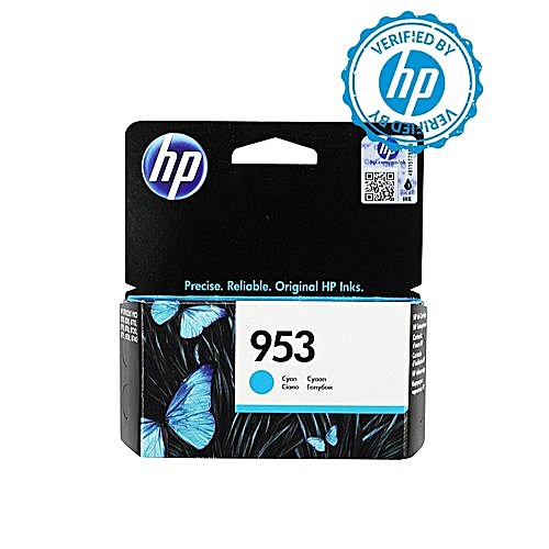 953 Cyan Ink Cartridge - F6U12AE BGX + FREE HP A4 Paper