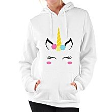 c26df116d70 Fashion Autumn Casual Hoodies Female Unicorn Printed Long Sleeve Hooded Top  Harajuku Sweatshirt