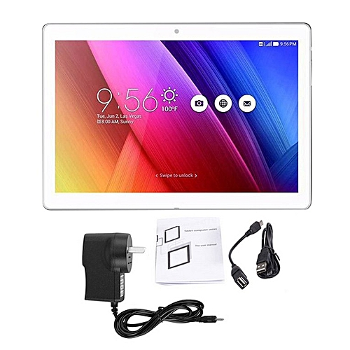 """10.1 Tablet PC Android 4.4 3G Network Call WIFI Bluetooth Dual Camera"""" Silver"""