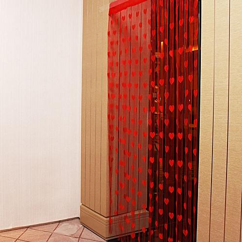 1mx2m Love Heart String Curtain Tassel Drape For Wall Vestibule Door Window Home Decor