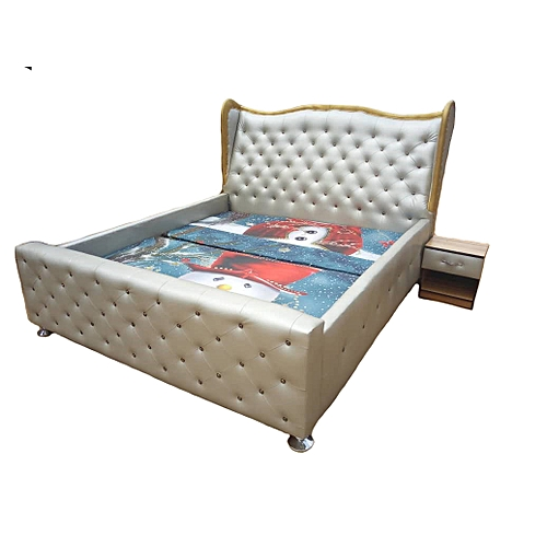6by6 Feet Bedframes With Bedside Drawer. Padded Beds