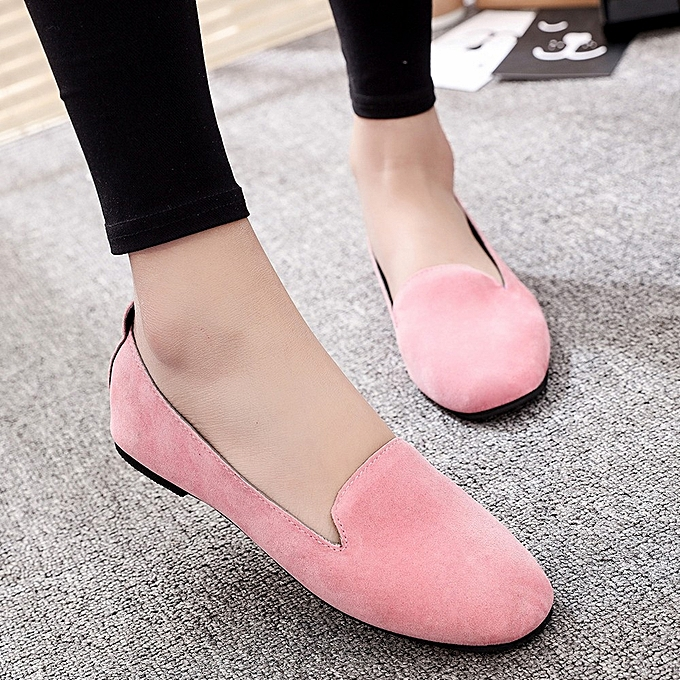 5475df7d9 ... Blicool Shoes Women Ladies Slip On Flat Round Toe Shallow Shoes Sandals  Casual Shoes Pink ...