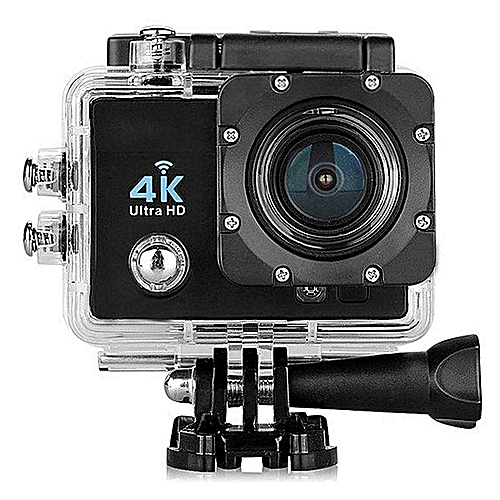 "Q6 4K 16MP 2.0"" HD LCD Display Mini Video DV WiFi Action Sports Camera -- 30M Waterproof Loop Recording Full HD 1080P 170 Degree Wide-angle HDMI Micro USB TV Output (Black)"