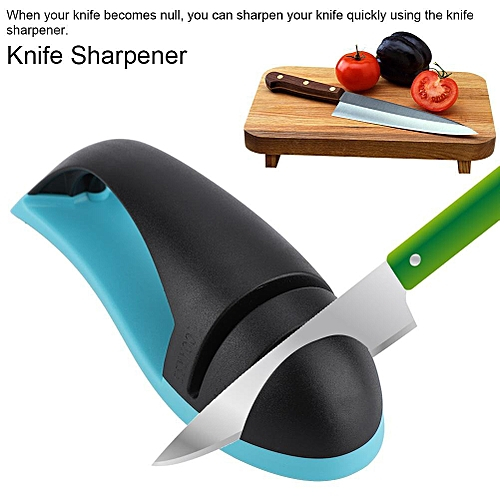 Durable 2-Stage Fast Knife Sharpener Sharpening Honing Kitchen Tool Household