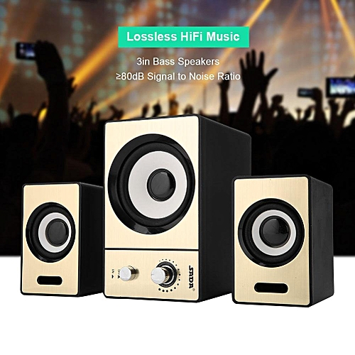 SADA 2.1 Surrounding Bluetooth Computer Laptop Speakers Clear PC Speakers With Subwoofers