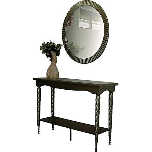 Console With Mirror- Spiral Leg
