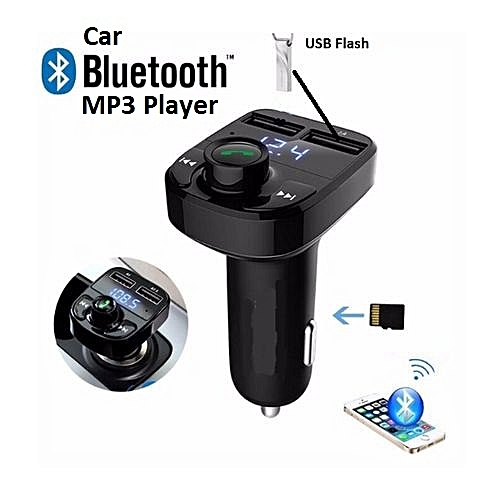 Bluetooth Car MP3 & Phone Handsfree Kit With Dual USB Ports For Charging & U-Disk