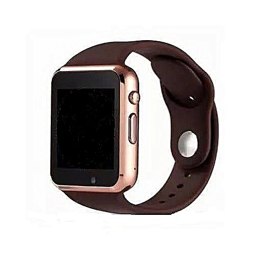 A1 Smart Watch Single Sim GSM, Bluetooth, Memory Card Slot & Camera For Android And IPhone-Brown