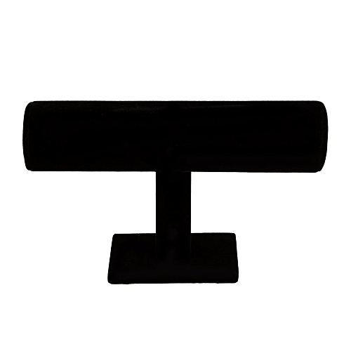 Fashion 1-Tier Velvet Watch/Bracelet Jewelry Display Organizer Stand Holder Rack-Black