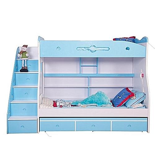 Children's Blue Bunk Bed Frame -BLUE