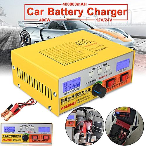 Automatic Intelligent Pulse Repair Type 12v 24v 400ah Car Battery Charger Aj 618 European Regulations
