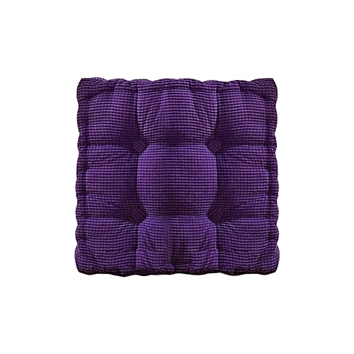 New Solid Color Square Chair Cushion Thickening Tatami Mat Purple