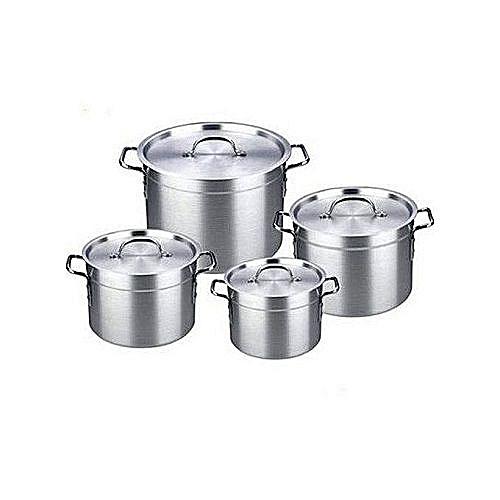 4 Pcs Aluminium Pots Set