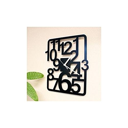 Acrylic Wall Clock - Black