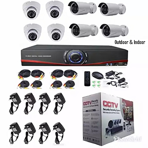 CCTV 8 CHANNEL OUTDOOR AND INDOOR SYSTEM