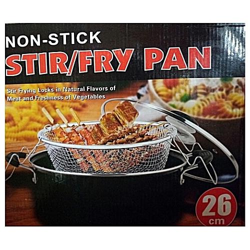 Non Stick Stir/Fry Pan - Red