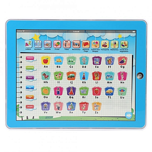 SHANYU Mini English Study Learning Pad Touch Voice Educational Gift Kids Toy
