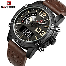 Men's Fashion Sport Watches Men Quartz Analog Date Clock Man Leather Military