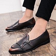 08f02197dc64 Men Loafers Genuine Leather Shoes Trends Flat Casual Moccasins (Brown)
