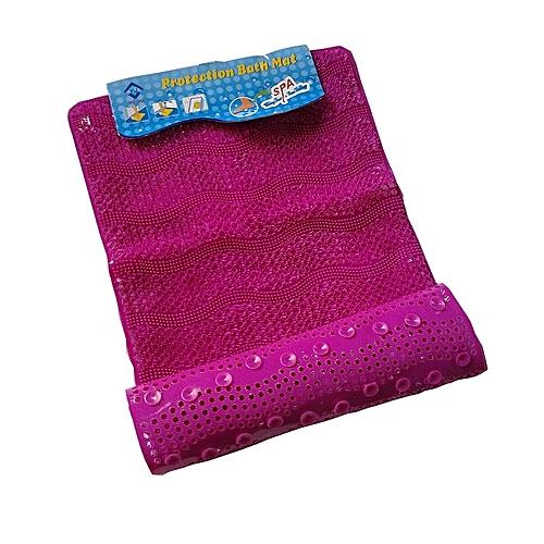 Bath Mat - Foot Massage & Scrub - Non-Slip Pure Rubber