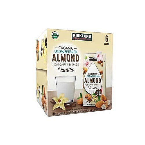 ORGANIC UNSWEETENED ALMOND MILK 946ML X 6