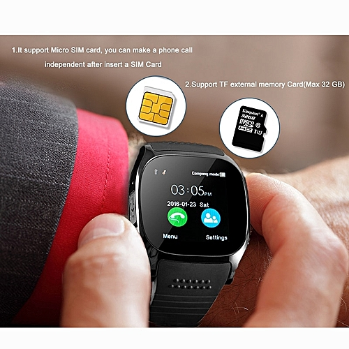 Generic 2019 Newest T8s Smart Watch With Sony Camera Support Sim Card Sport Outdoor Wristwatch Smartwatch