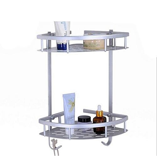 High-Qualified Space Aluminum Bathroom 2-Tier Triangle Rack Bathroom Sundries Holder