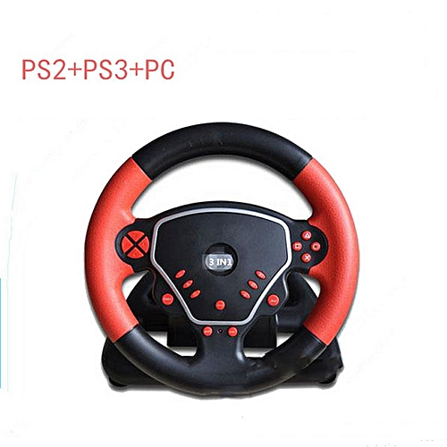 Generic Wired Multifunction Game Gaming Controller 270 Degree Steering Wheel Fit For Playstation ps2 ps3 pc tw-667