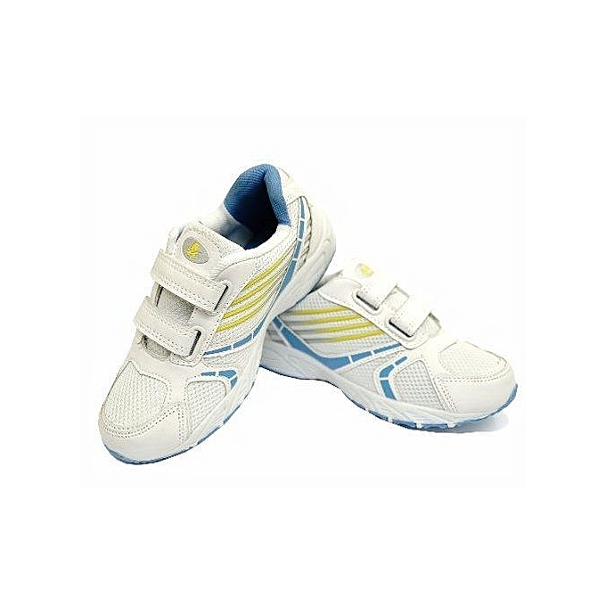 26243ad1ca59e Boys  Girls Kids Children s White Casual Sports Trainers Shoes -Unisex